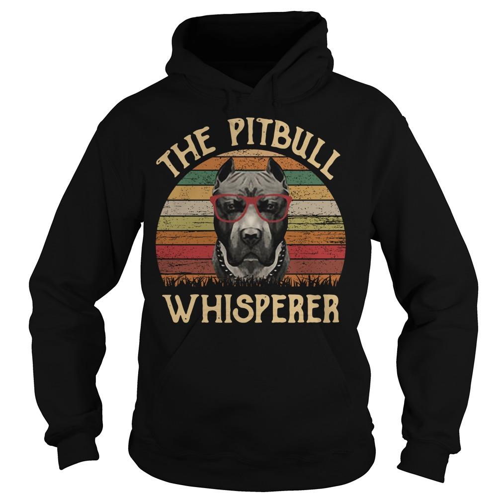 The pitbull whisperer sunset retro Hoodie