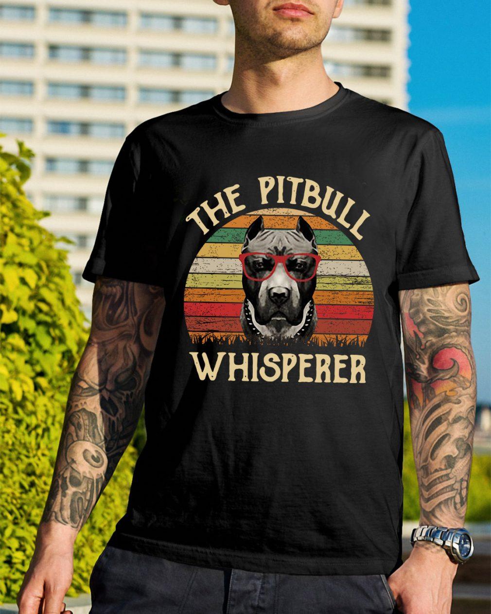 The pitbull whisperer sunset retro shirt