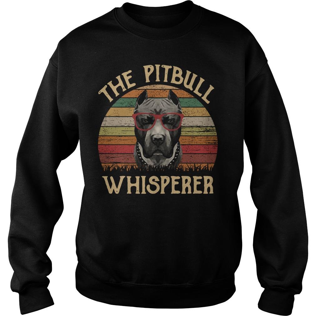 The pitbull whisperer sunset retro Sweater