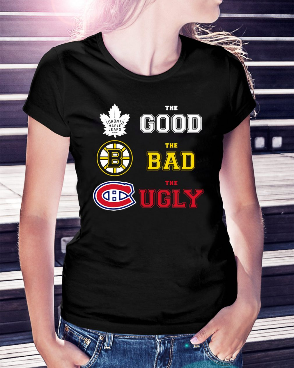Toronto Maple Leafs the good the bad and the ugly Ladies Tee