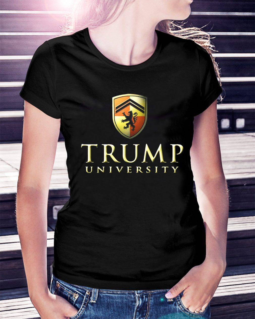 Trump university make America first Ladies Tee