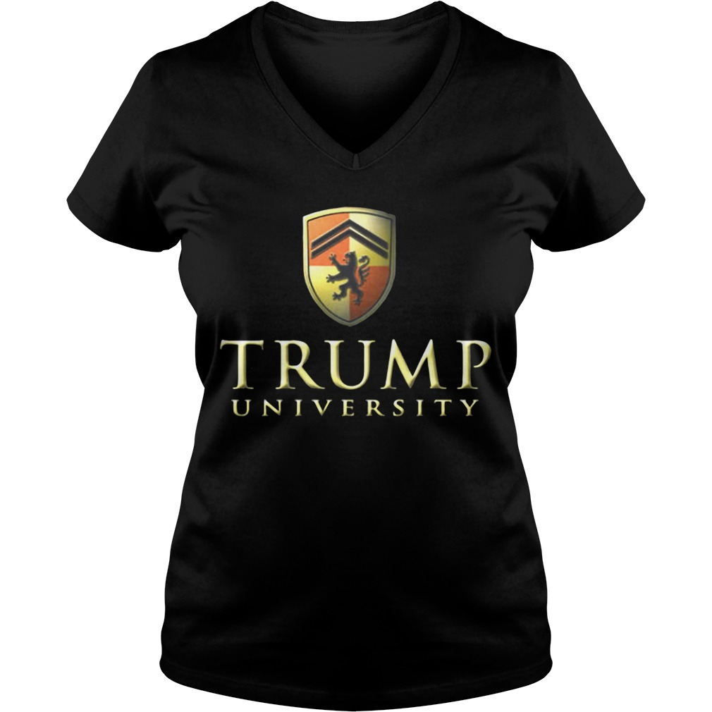 Trump university make America first V-neck T-shirt