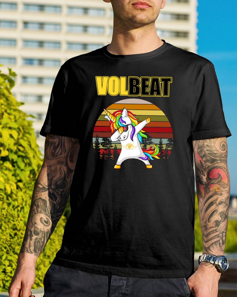 Unicorn dabbing Volbeat vintage shirt