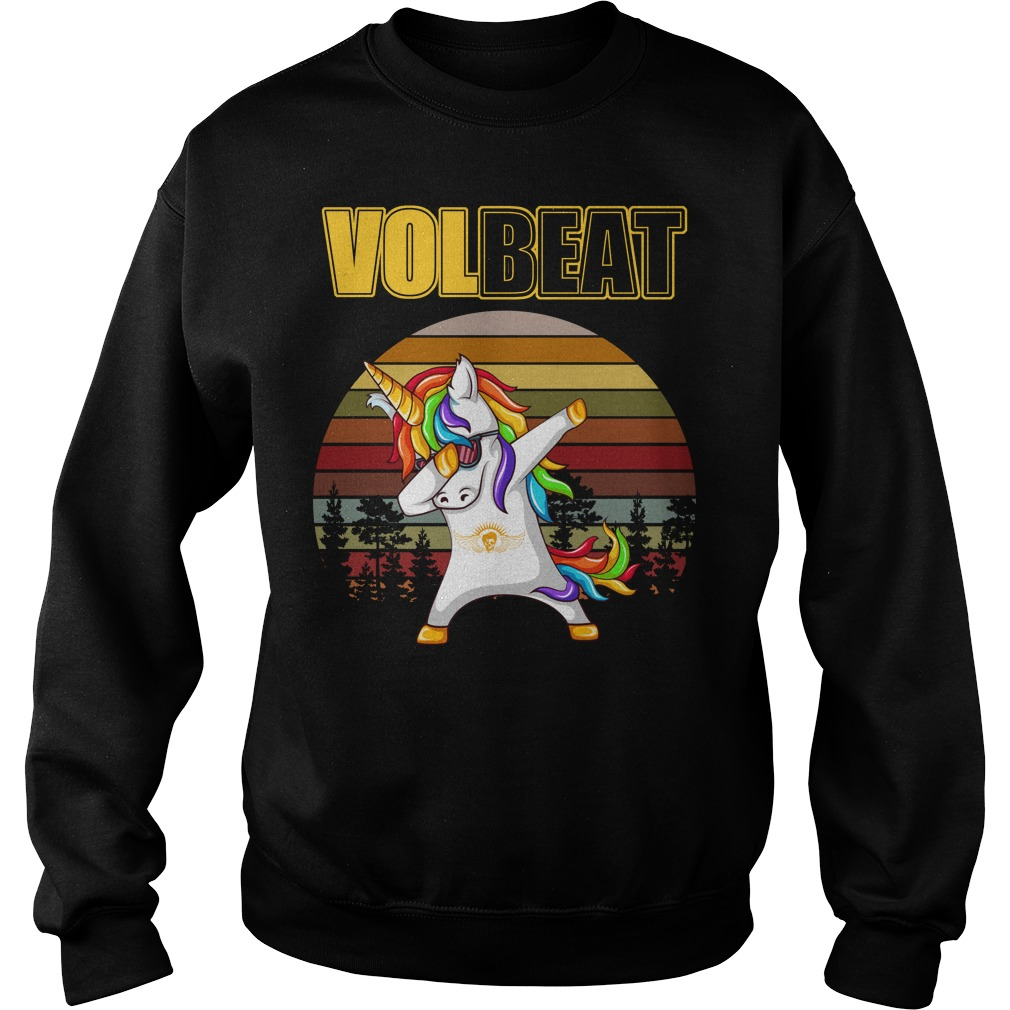 Unicorn dabbing Volbeat vintage Sweater