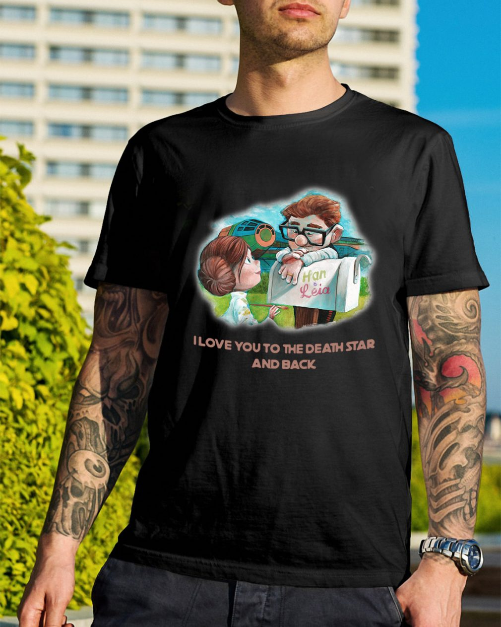 Up Han and Leia I love you to the death star and back shirt