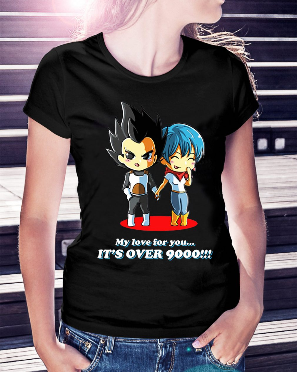 Vegeta my love for you it's over 9000 Ladies Tee