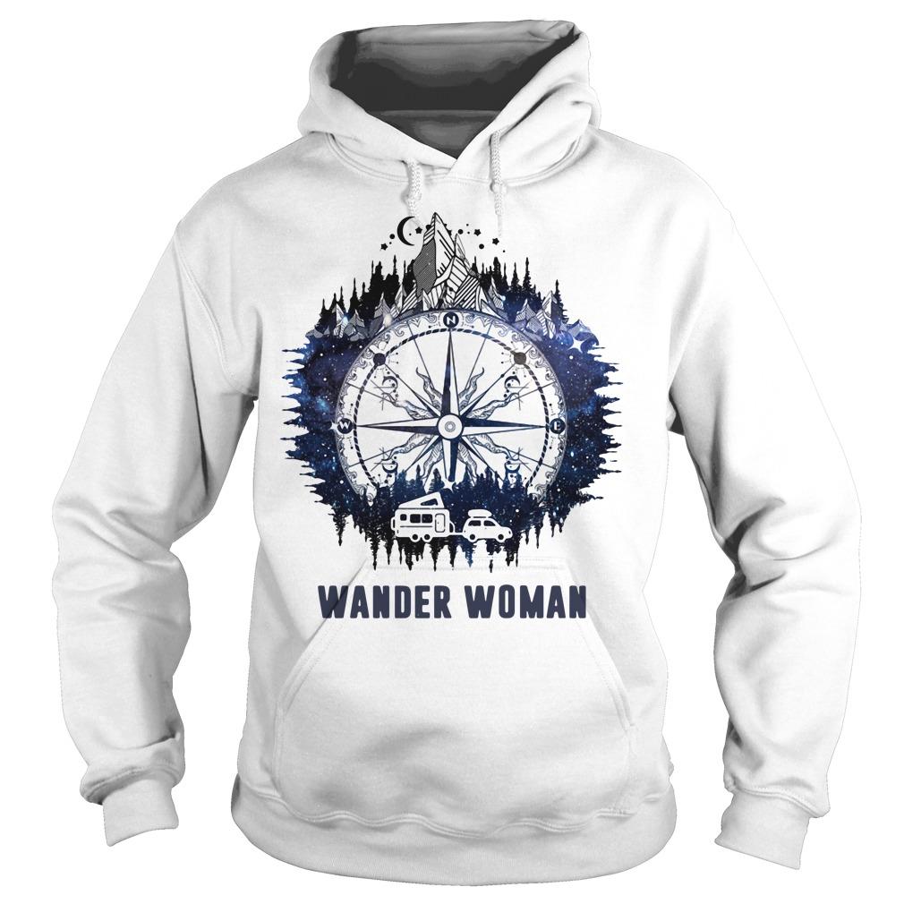Wander woman camping compass version Hoodie