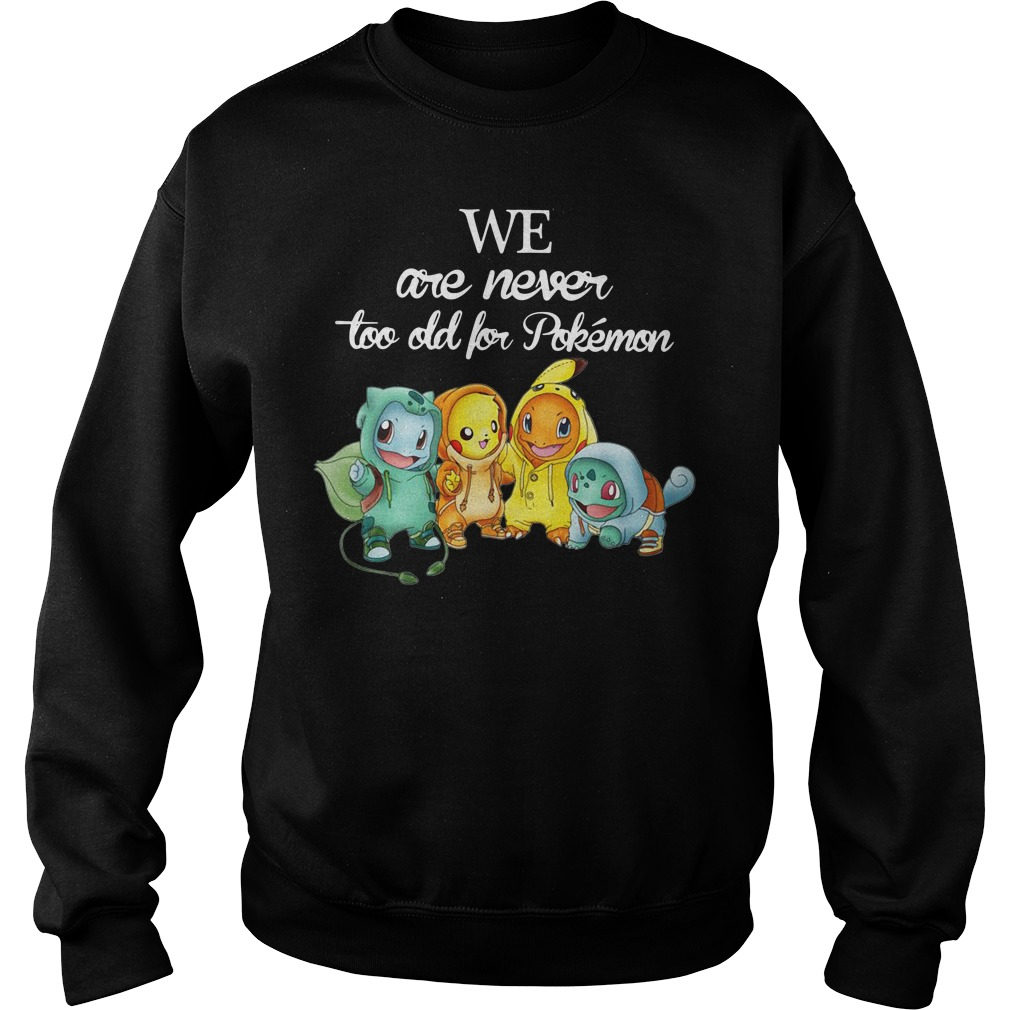 We are never too old for Pokemon Sweater