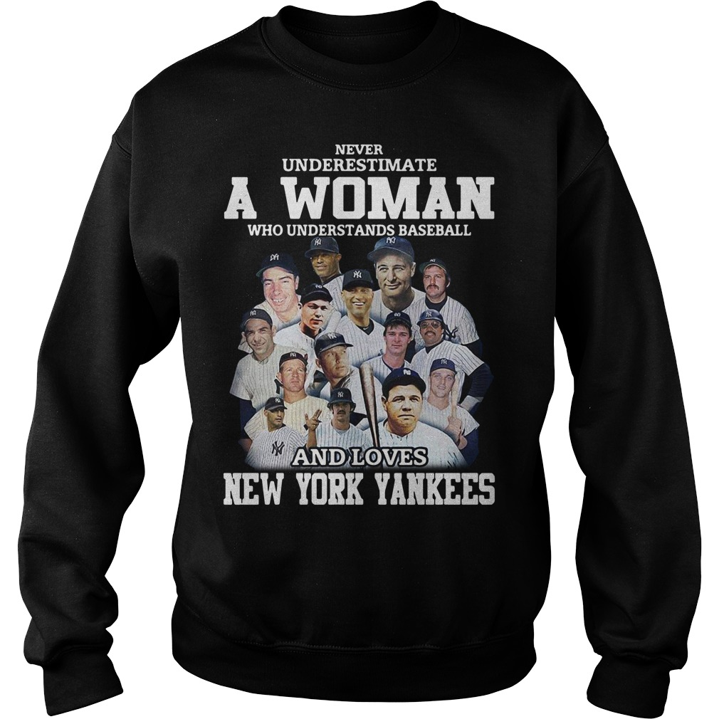 A woman who understands baseball and loves New York Yankees Sweater