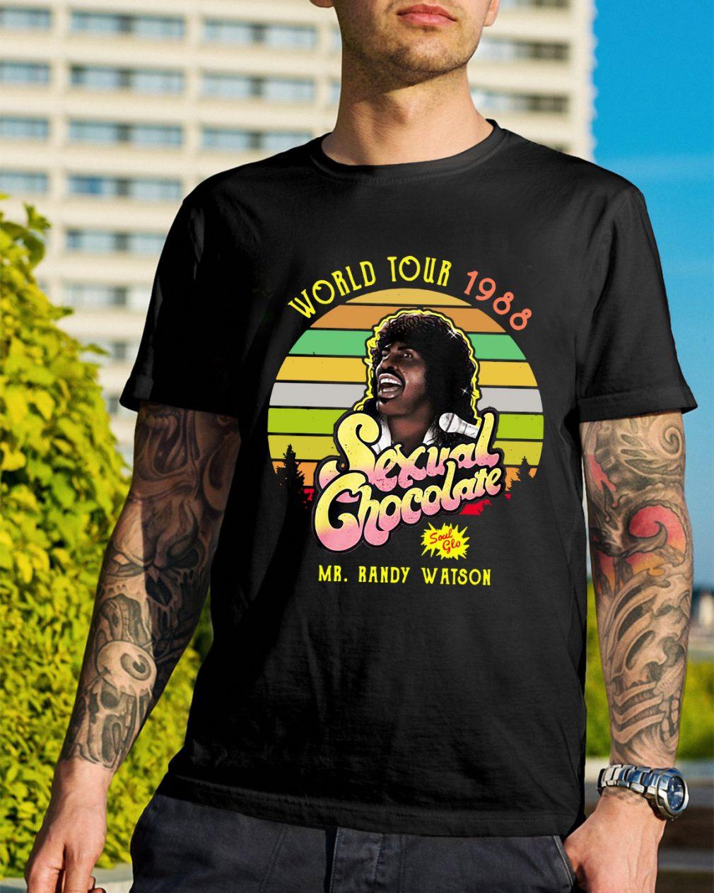 World tour 1988 Sexual Chocolate Mr. Randy Watson vintage shirt