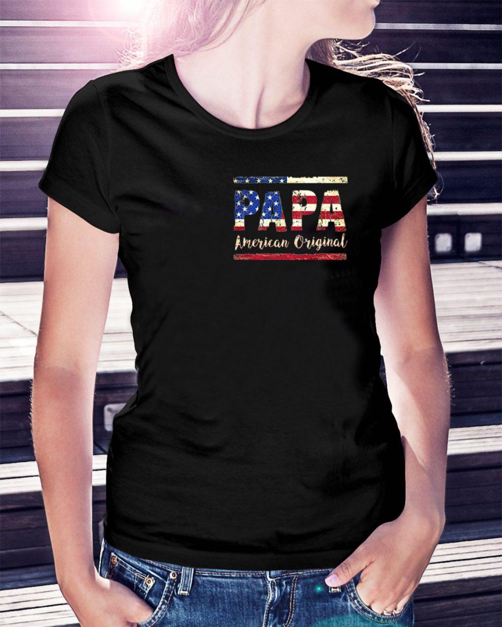 American Flag Papa American original Ladies Tee