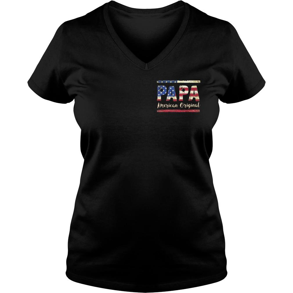 American Flag Papa American original V-neck T-shirt
