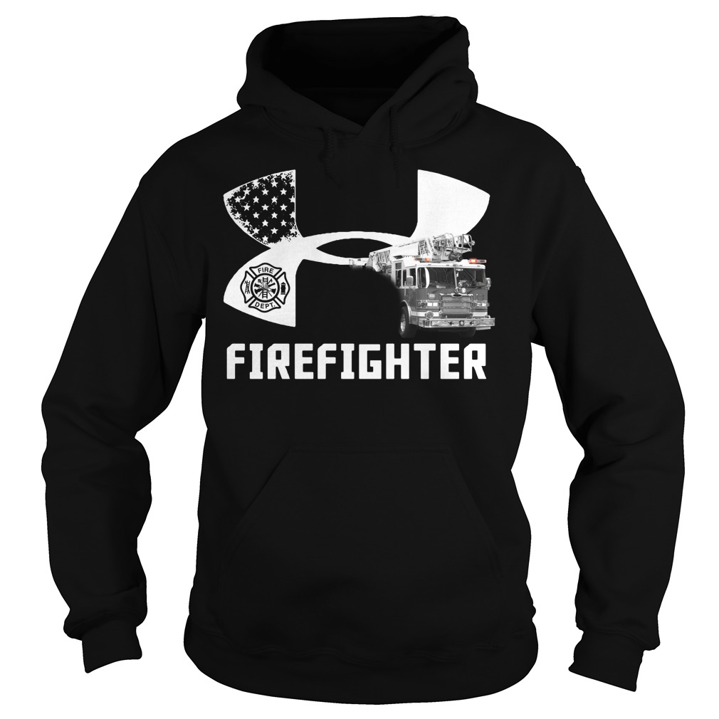 American Flag under armour firefighter Hoodie
