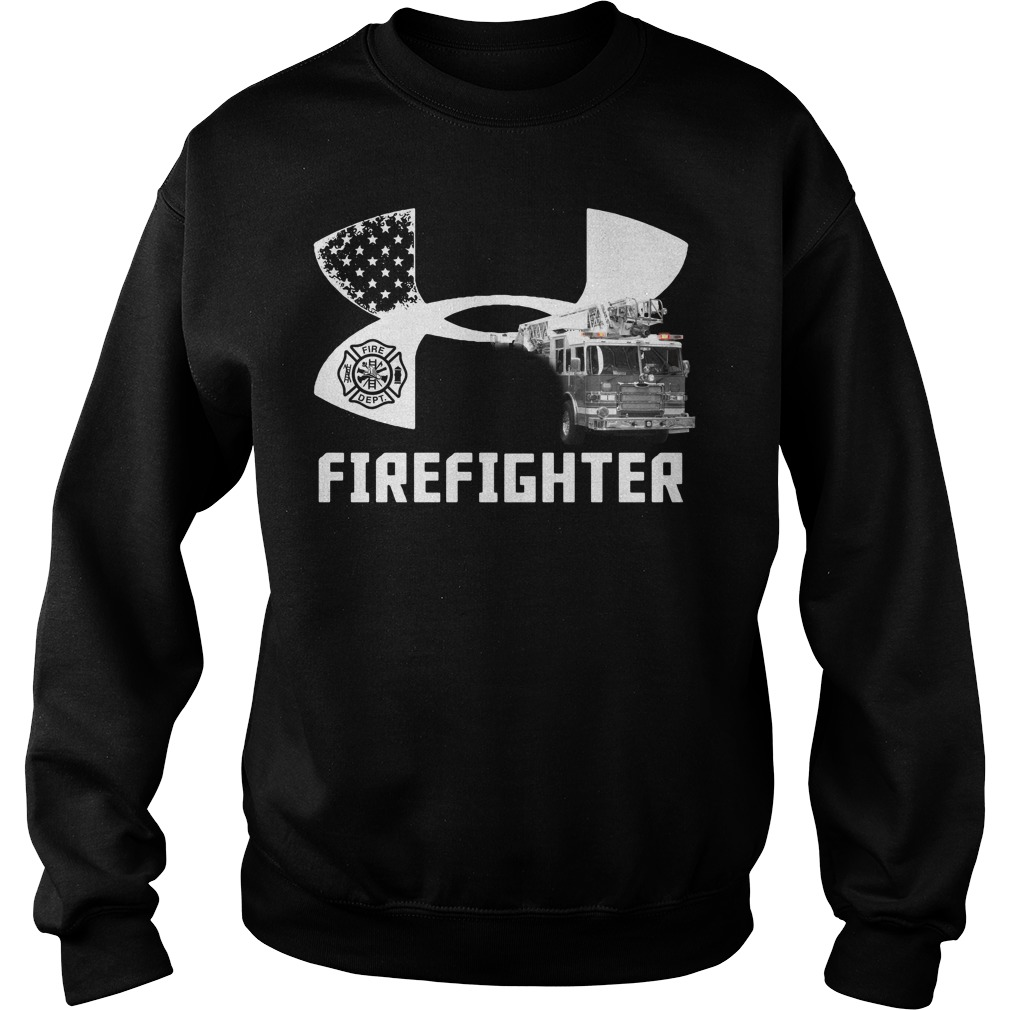 American Flag under armour firefighter Sweater