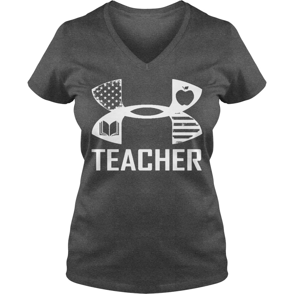 American Flag under armour teacher V-neck T-shirt