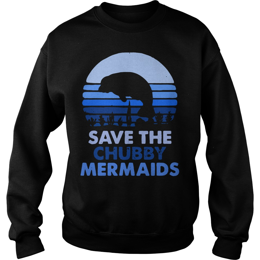 Save the chubby Mermaids vintage Sweater