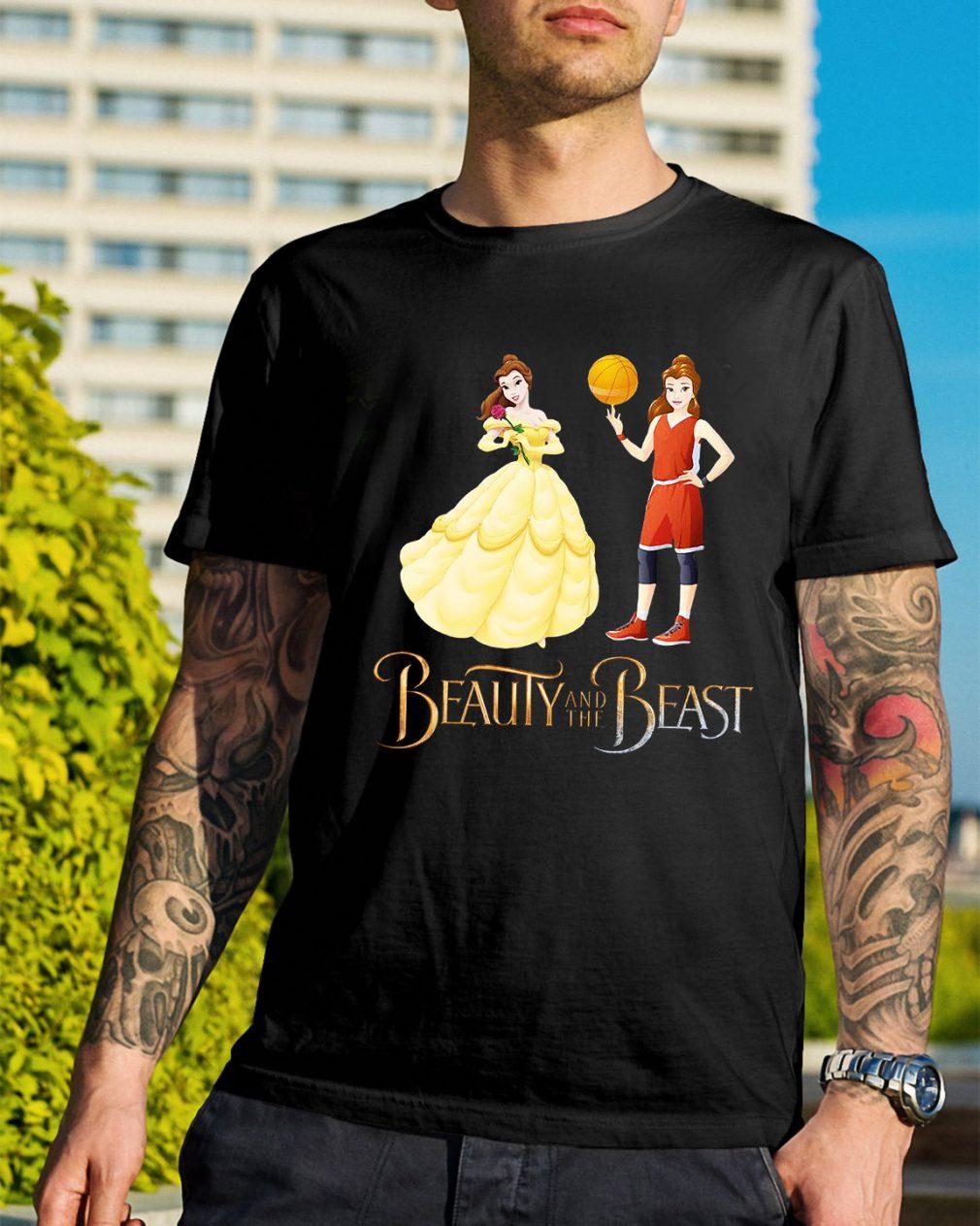 Beauty and the beast Basketball beauty shirt