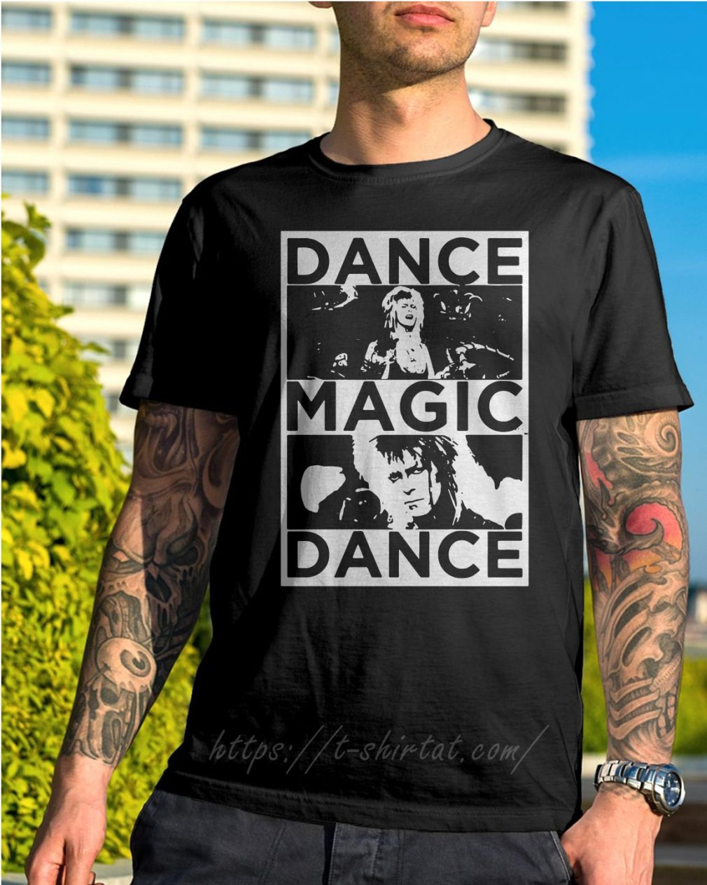 Bowie Labyrinth dance magic dance you remind of the babe shirt