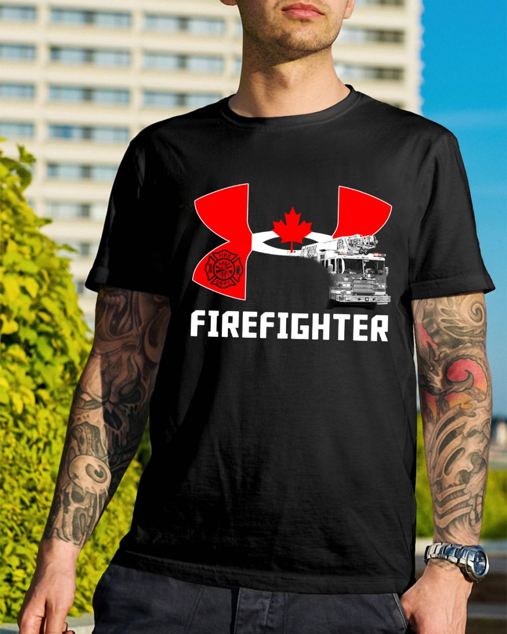 Canada under armour firefighter shirt