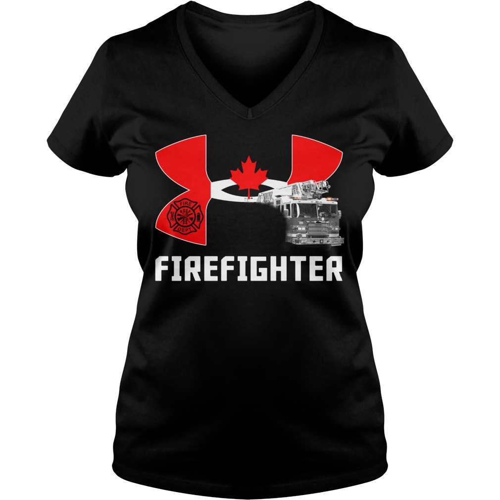Canada under armour firefighter V-neck T-shirt