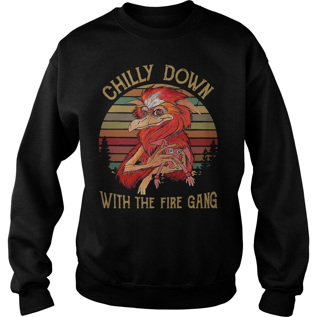 Chilly down with the fire gang vintage Sweater