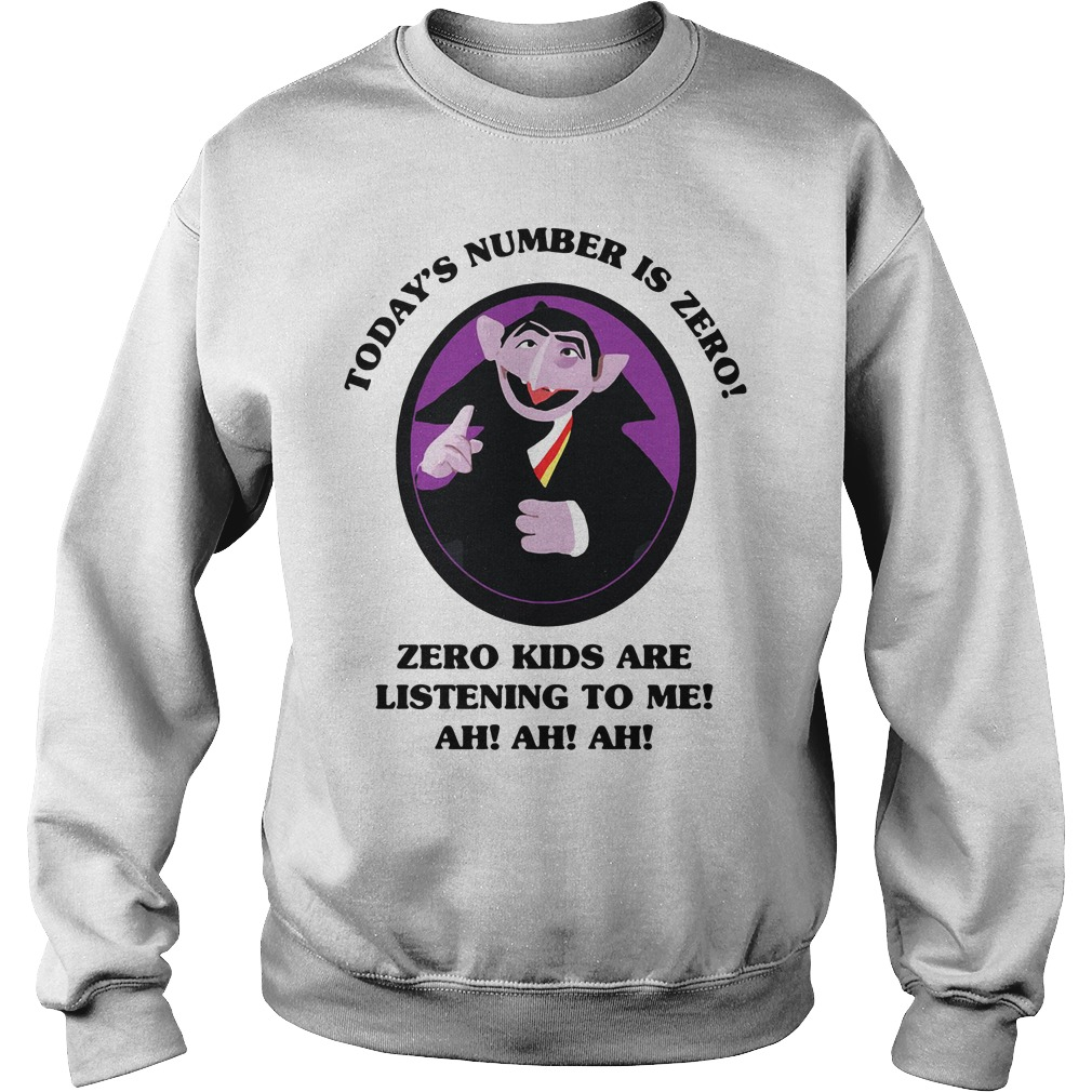 Count Von Count today's number is zero zero kids are listening to me Sweater