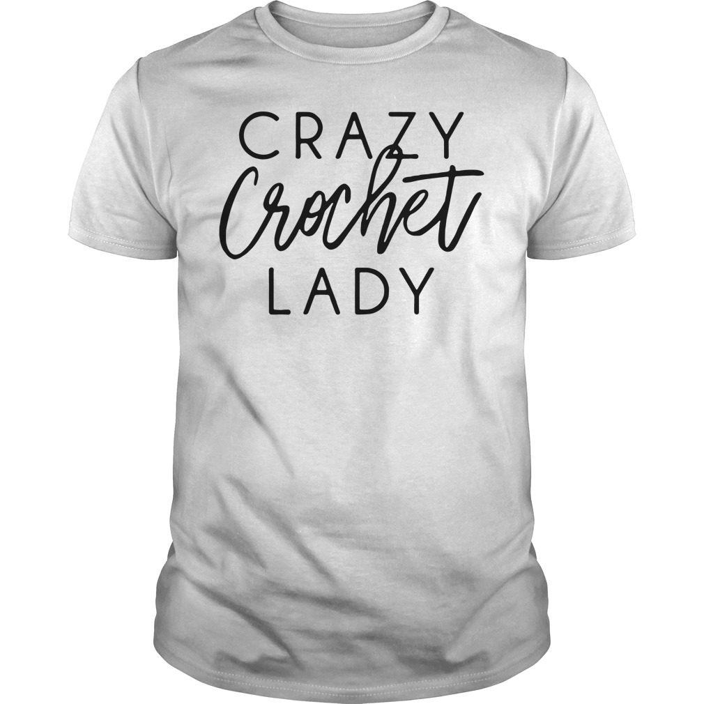 Crazy crochet lady shirt