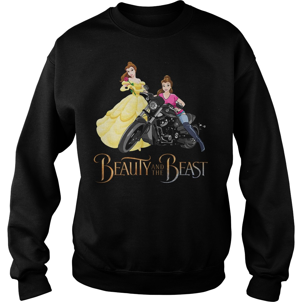 Disney Beauty and the Beast Belle motorcycle Sweater