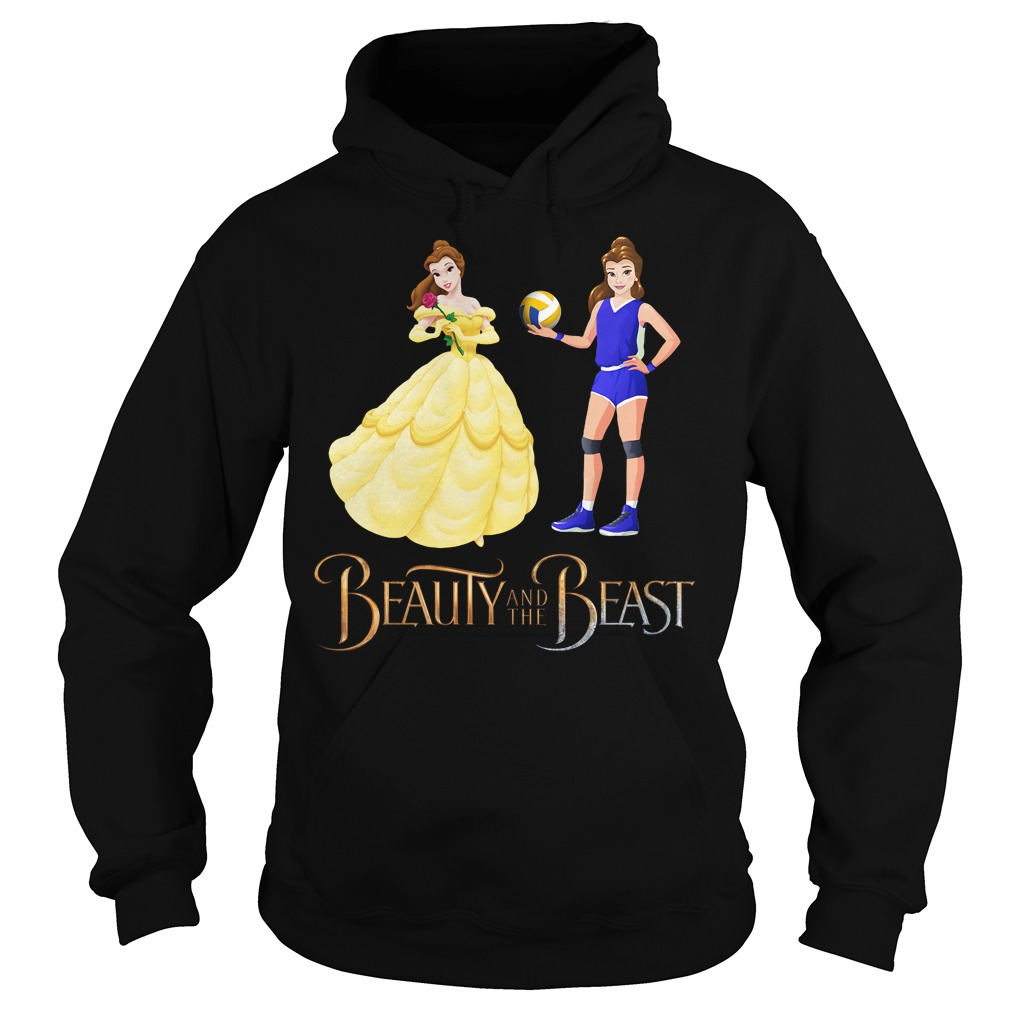 Disney Beauty and the Beast volleyball beauty Hoodie