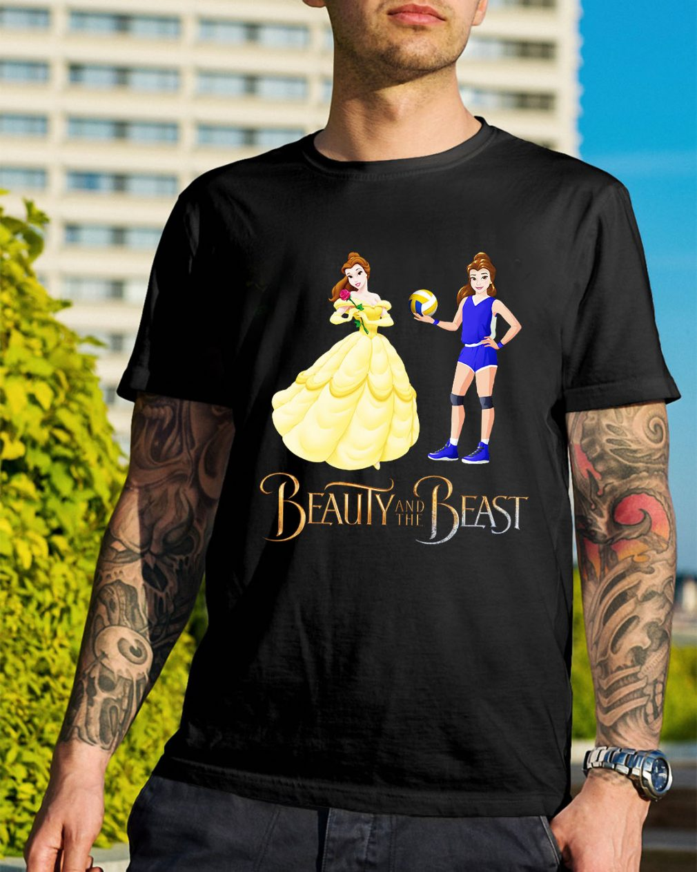 Disney Beauty and the Beast volleyball beauty shirt