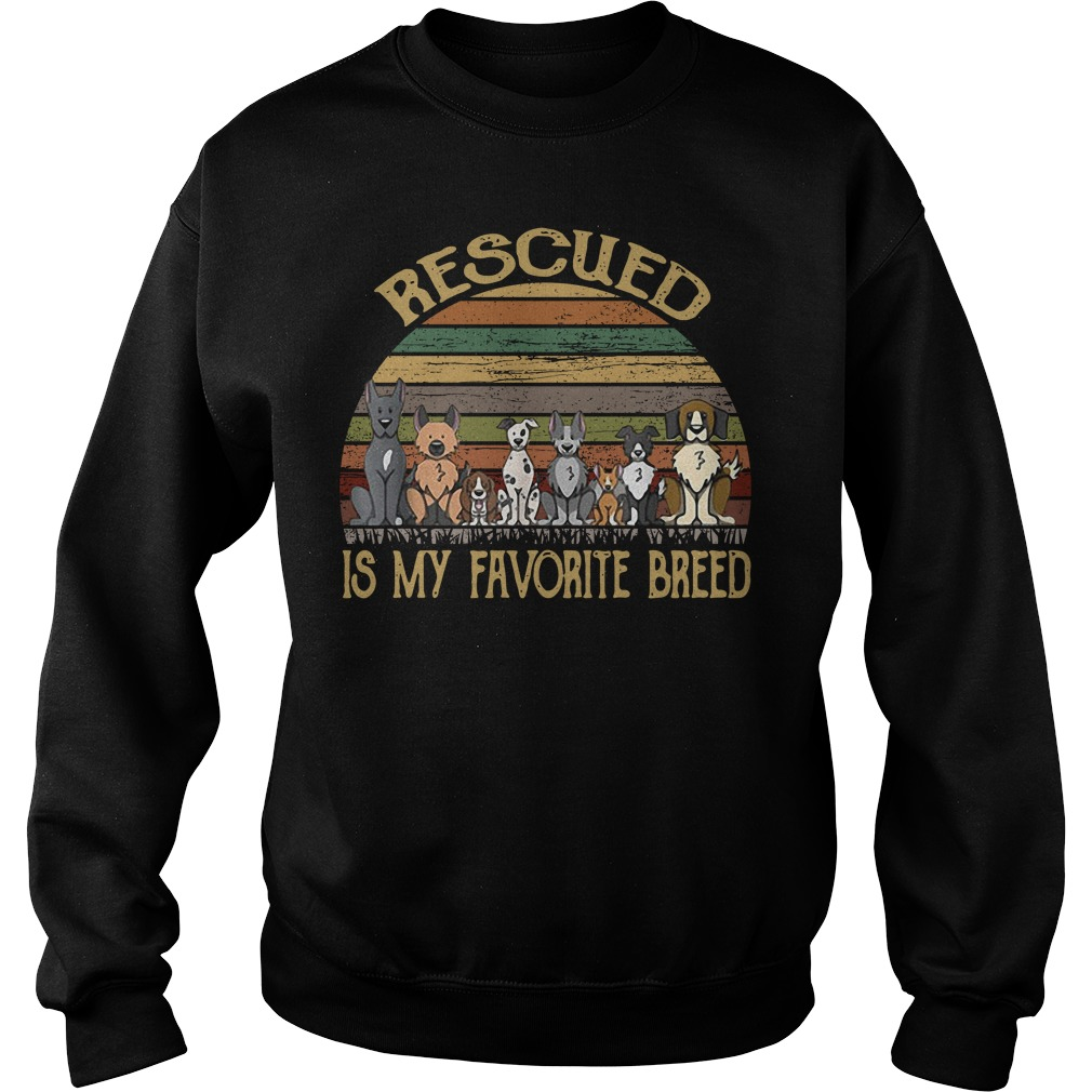 Dog rescued is my favorite breed vintage Sweater