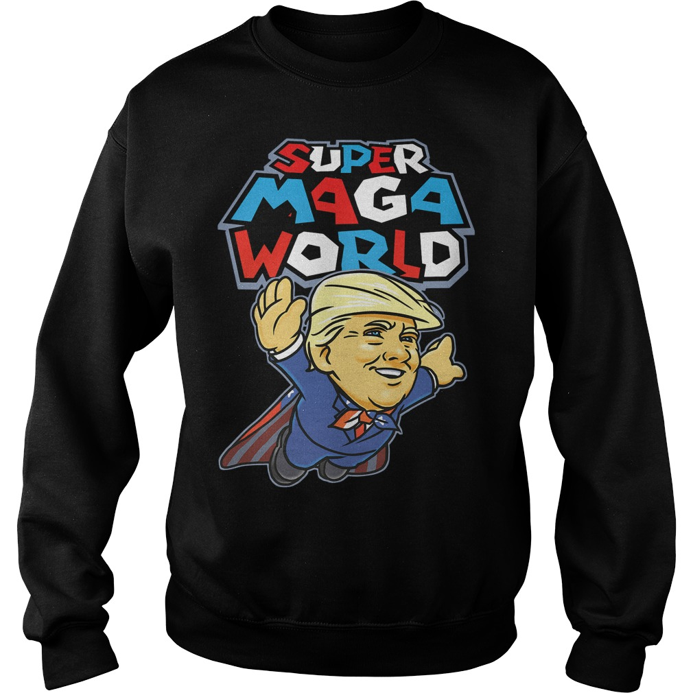 Donald Trump super MAGA world Sweater