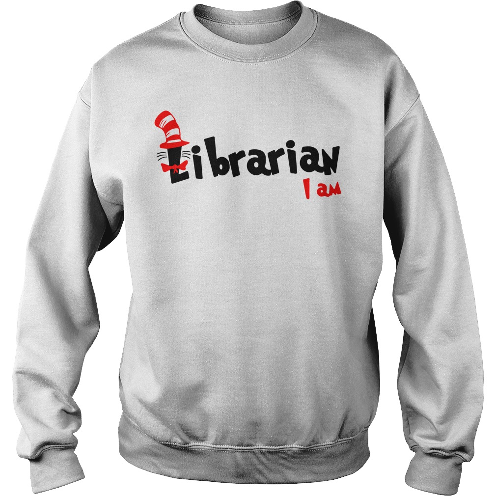Dr Seuss Librarian I am Sweater