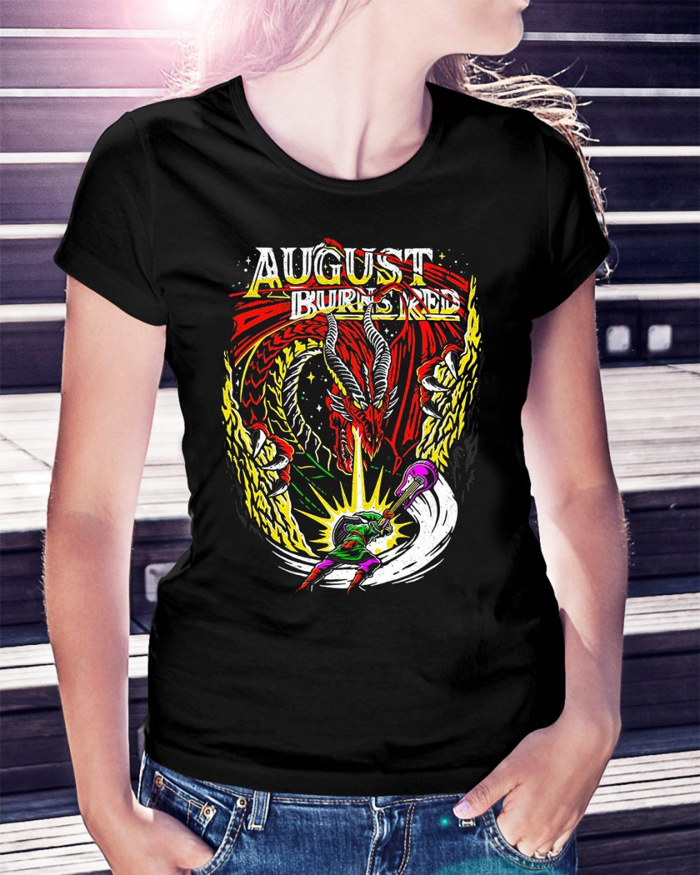 Dragon August burns red Ladies Tee