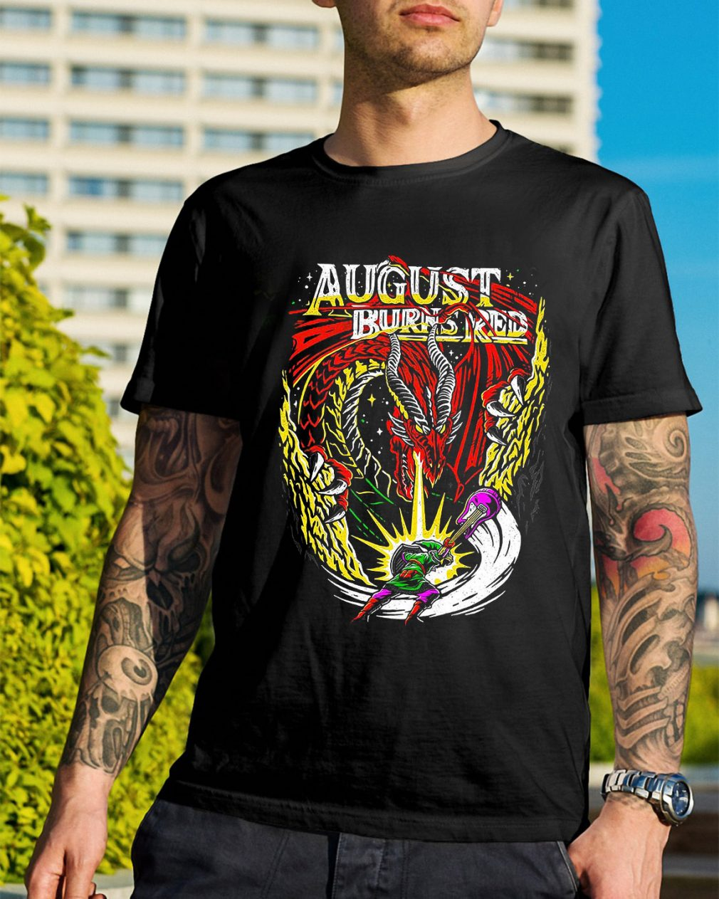Dragon August burns red shirt