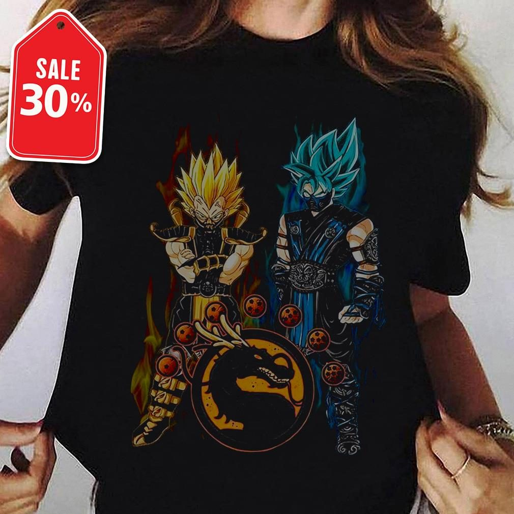 Dragon ball Son Goku and Vegeta mortal kombat Ladies Tee