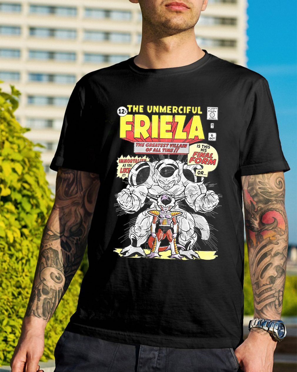 Dragon ball the unmerciful Frieza the greatest villain of all time shirt