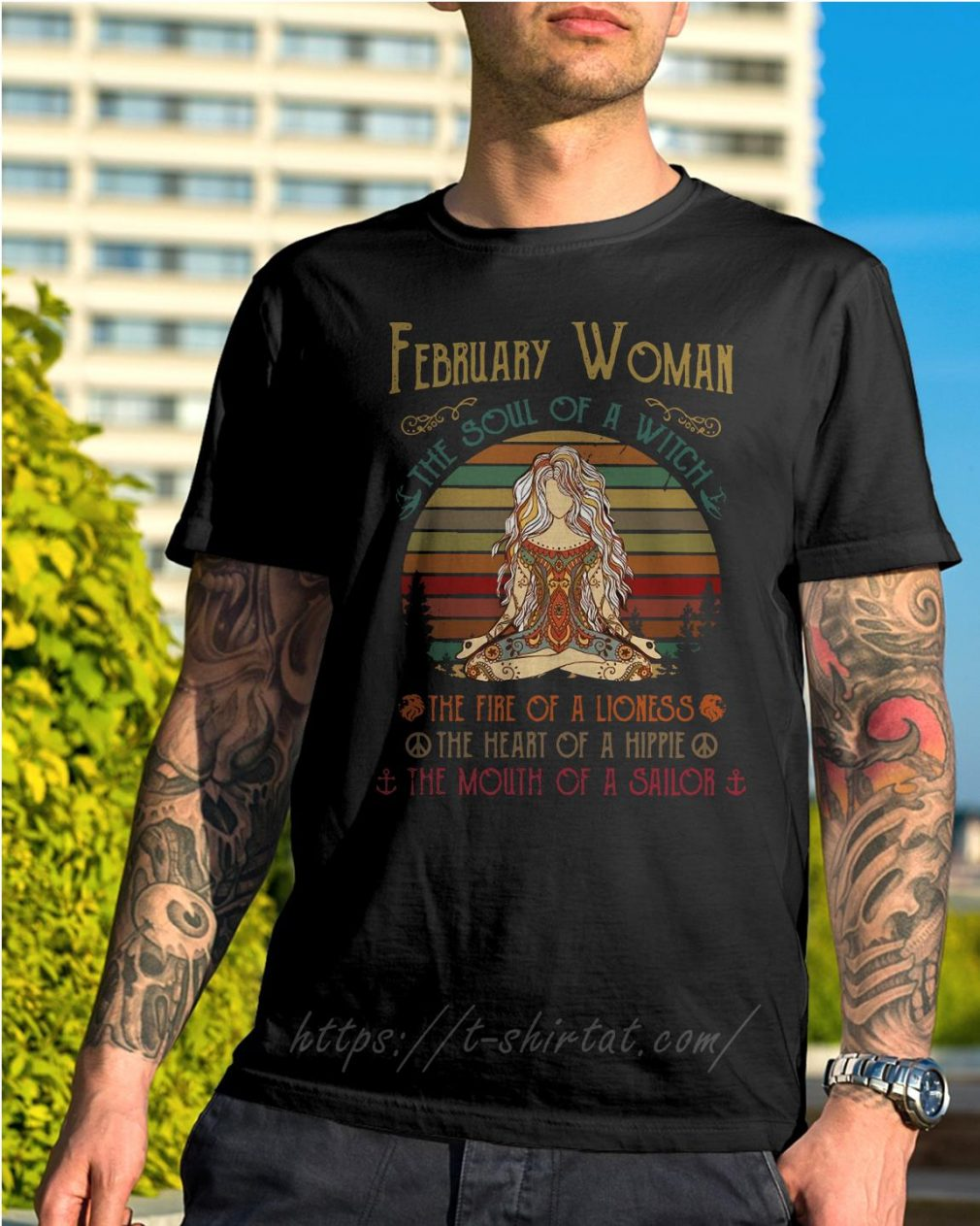 February woman the soul of a witch the fire of a lioness shirt