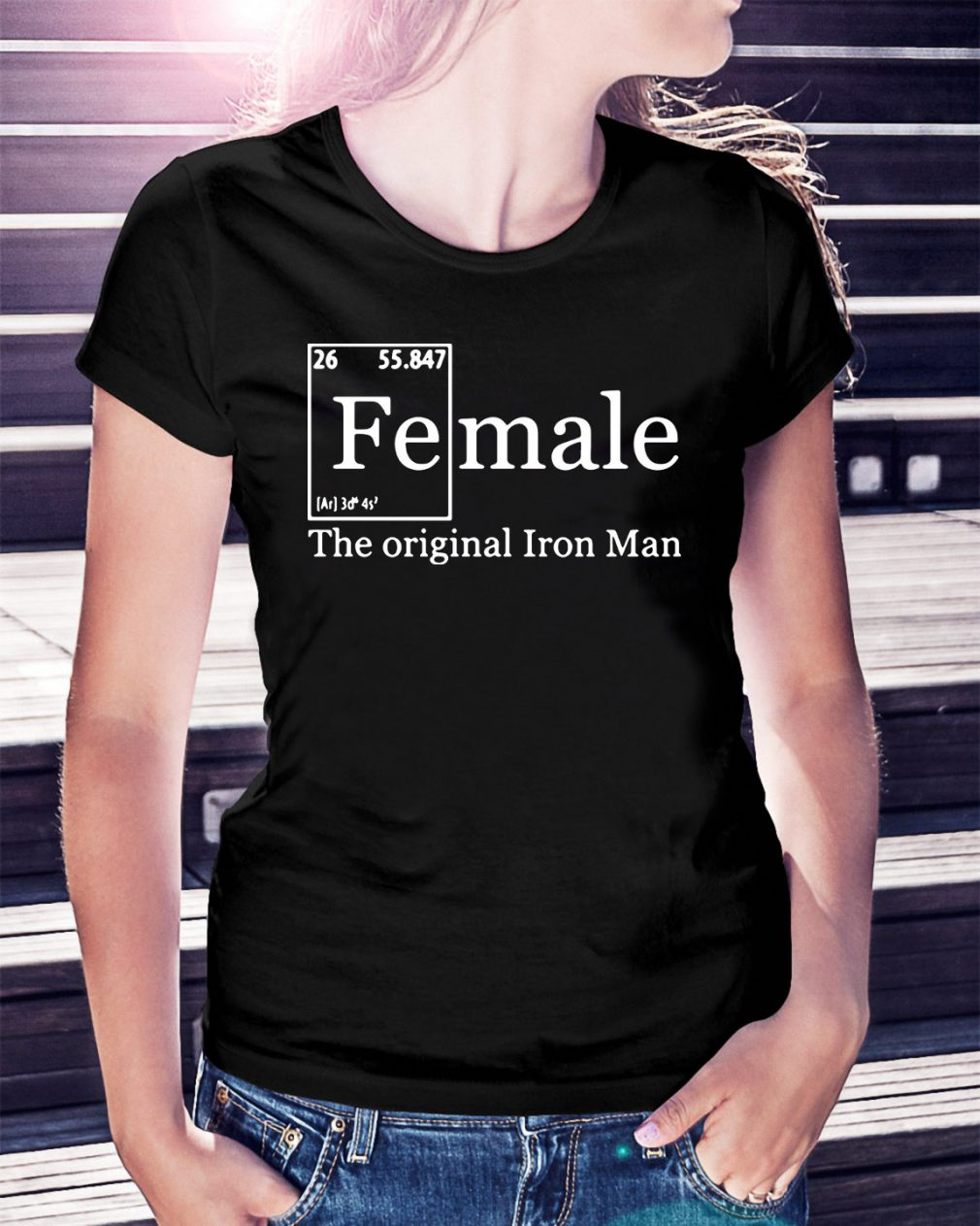 Female the original Iron man Ladies Tee