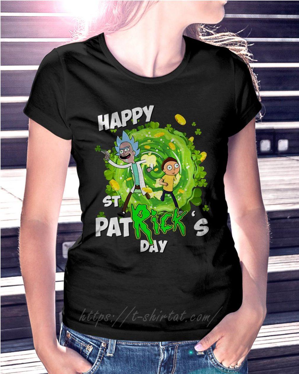 Happy St PatRick's day Rick Sanchez Ladies Tee