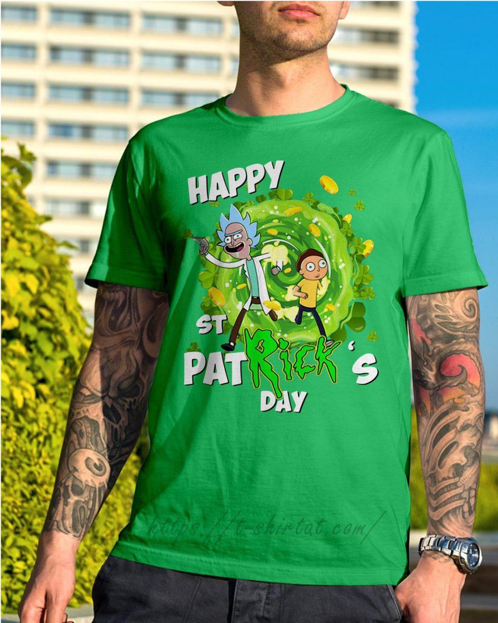 Happy St PatRick's day Rick Sanchez Shirt green