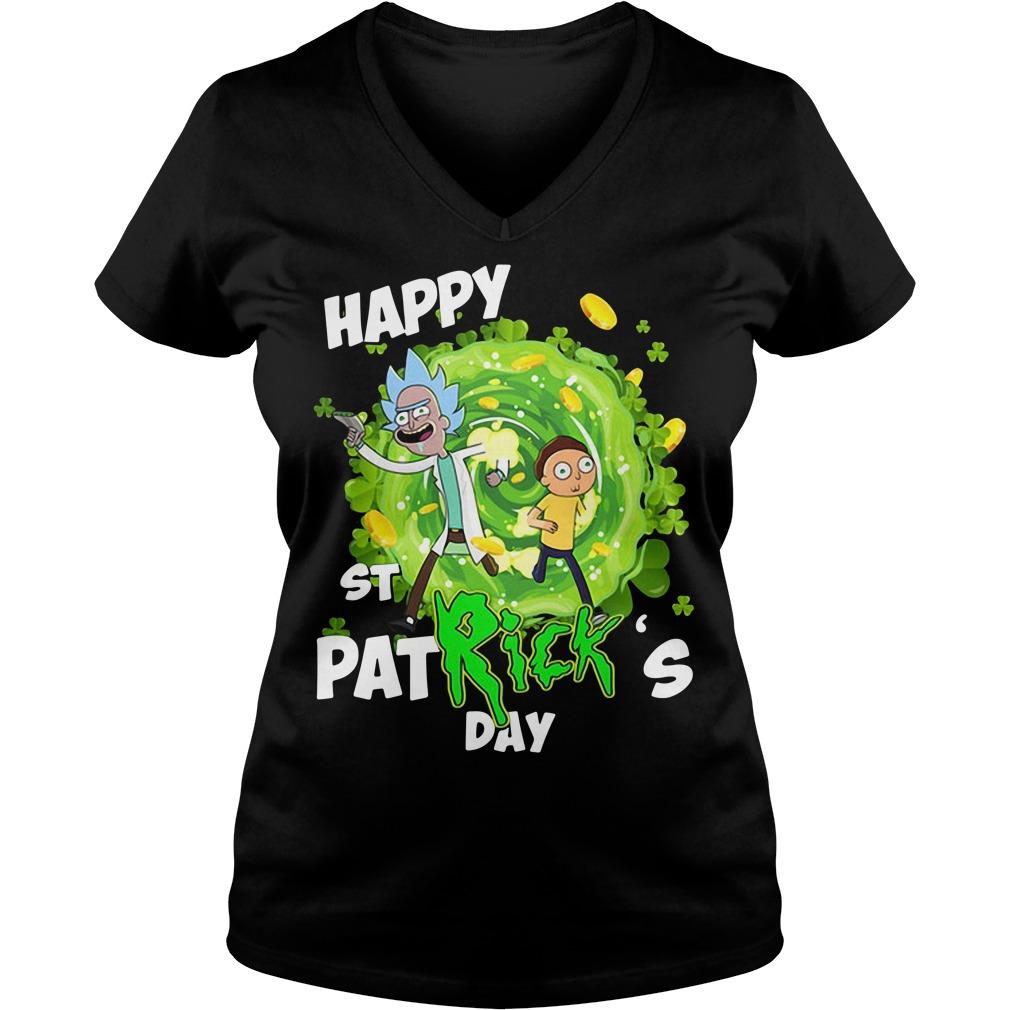 Happy St PatRick's day Rick Sanchez V-neck T-shirt