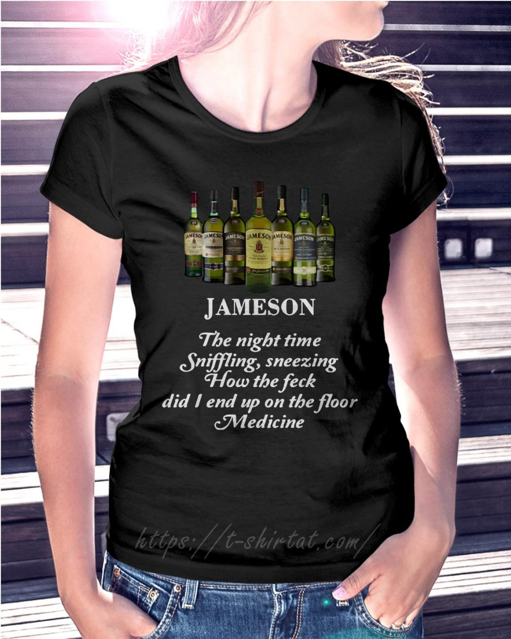 Jameson the night time sniffling sneezing how the feck Ladies Tee