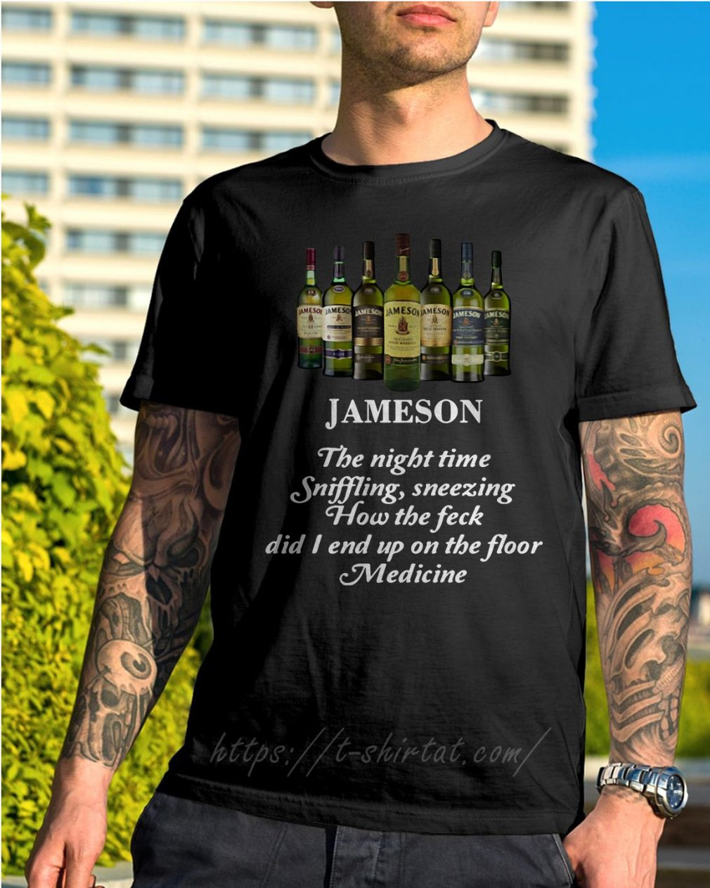 Jameson the night time sniffling sneezing how the feck shirt