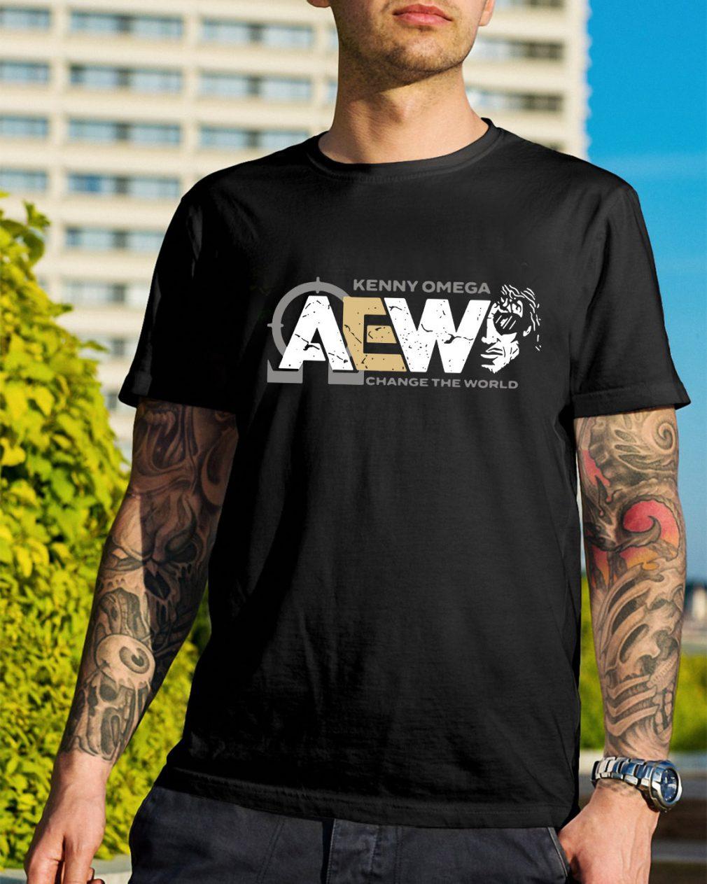 Kenny Omega AEW change the world shirt