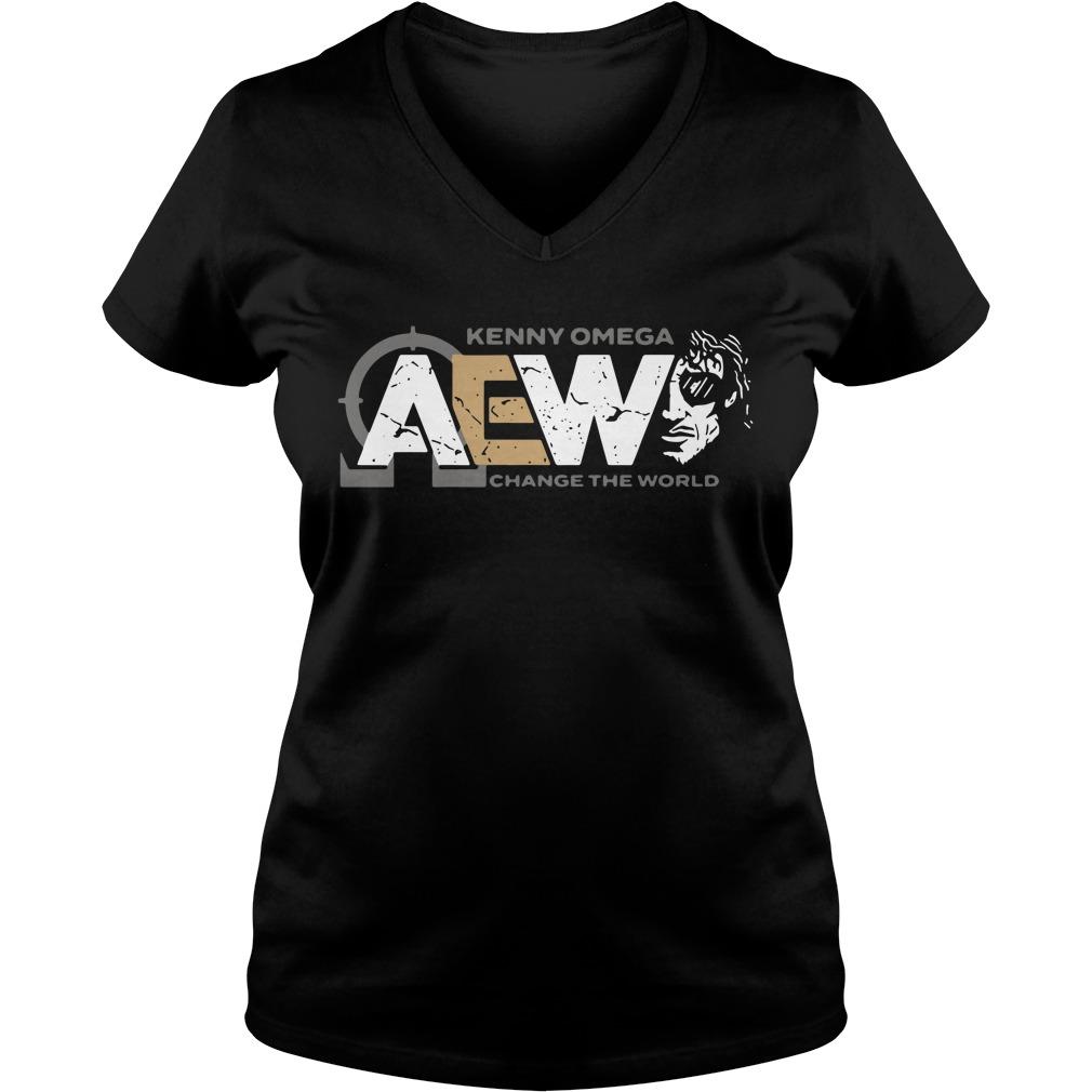 Kenny Omega AEW change the world V-neck T-shirt