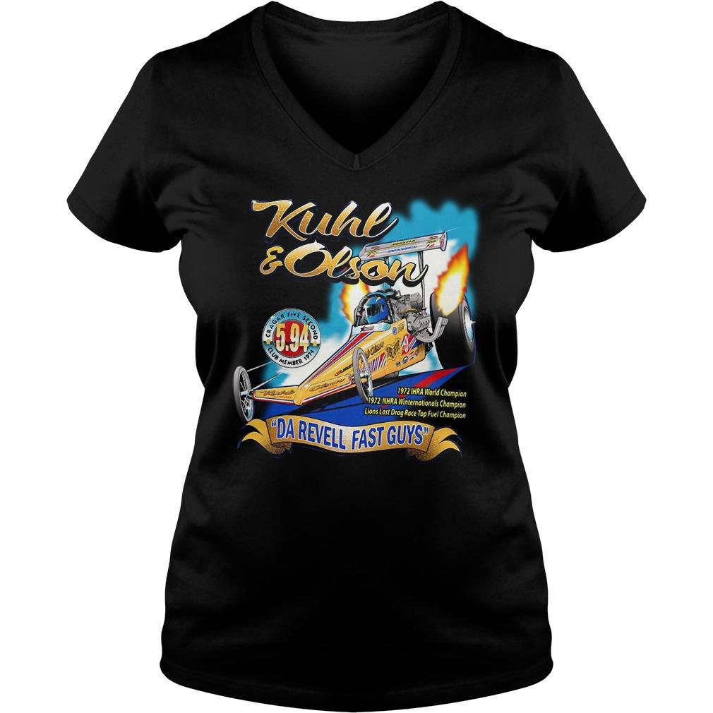 Kuhl and Olson Da Revell fast guys V-neck T-shirt