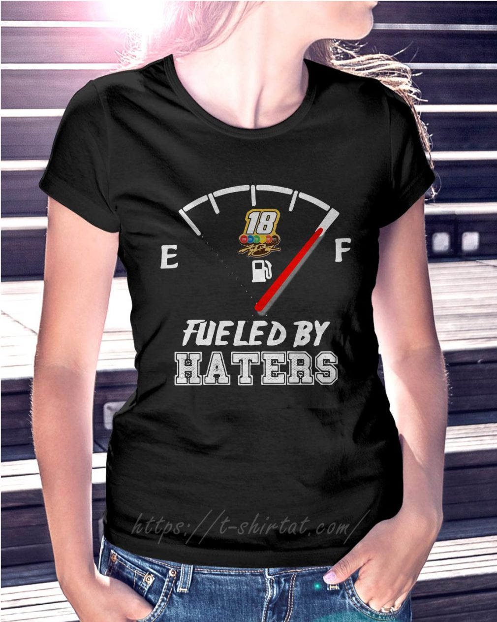 Kyle Busch fueled by haters Ladies Tee