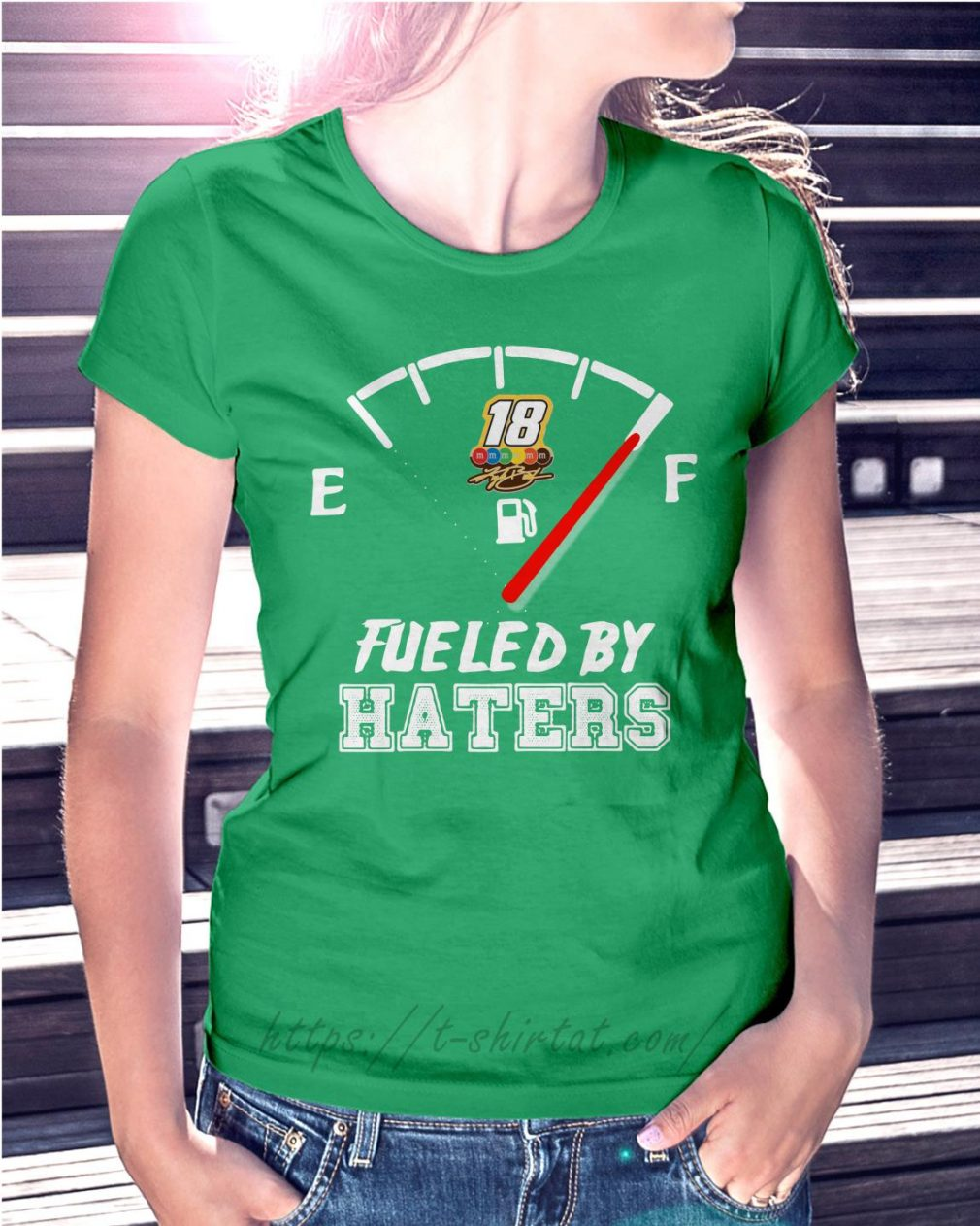 Kyle Busch fueled by haters Ladies Tee green