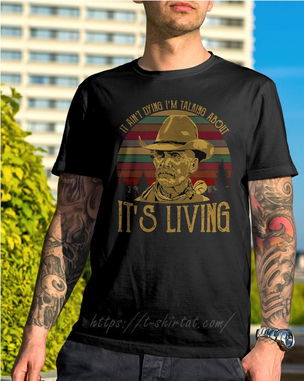 Larry McMurtry it ain't dying I'm talking about it's living vintage shirt